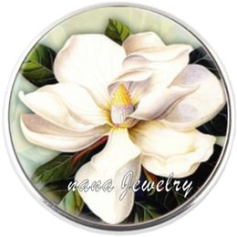 Wholesale Wholesale Jasmine Flowers - Cheap 20pcs lot Jasmine Charm Bracelets&Necklace For Pulseras Watch For Bracelet Picture Pendant Different Style You Can Choice Snap Jewelry