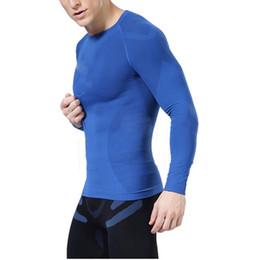 Al por mayor-Hombres Compresión Bajo Capa Base Tops Tight manga larga camisetas Gear más nuevo desde fabricantes