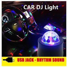 Wholesale Car Rhythm Light - car DJ light led lamp New arrival Fashion Music Rhythm Activated car DJ Effects 12V Car Decoration light Auto light hot free shipping
