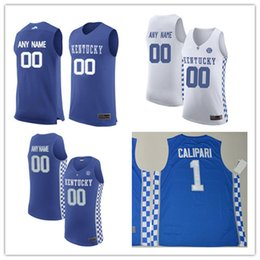 Wholesale Basketball Number 23 - Custom Mens Kentucky Wildcats College Basketball royal blue white Personalized Stitched Any Name Any Number customized #23 #1 Jerseys S-3XL