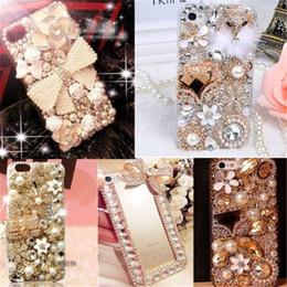 Wholesale Apple 3d Bling Handmade - 3d handmade luxury Bling jewelry rhinestone crystal diamond hard case for iphone 7  7 plus 6 6s  6 6s plus   5 5s se