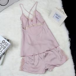 Wholesale Satin Babydoll Nightwear - Wholesale- Women's Satin Lace Robe Shorts Babydoll Women Sleepwear Nightwear Pajamas Set S72