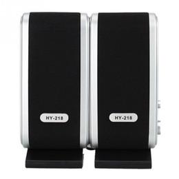 Wholesale Mini Speaker For Pc Laptop - Wholesale Portable USB 2.0 3.5mm Subwoofer Mini hi-fi Speaker for SmartPhones Desktop Laptop Notebook Tablet PC MP3 Player