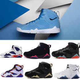 Wholesale Thanksgiving Sweater Men - HOT High Quality 7 7s Bordeaux Hare Olympic Tinker Alternate Men Basketball Shoes 7s Sweater UNC French Blue GMP Raptor Sneaker