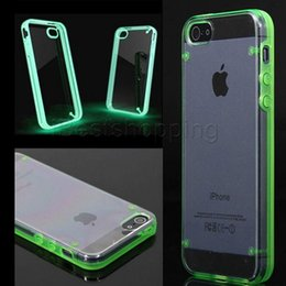 Étuis transparents pour iphone 4s à vendre-Transparent Ultra Thin Luminous Crystal Clear Housse de protection TPU pour iphone6 ​​iPhone 6 6s Plus 4S 5S Samsung Galaxy S5 S6 edge plus note 4 5