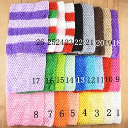 Wholesale Crocheted Baby Headbands - 9inch Baby Girl Elastic Chest Wrap Infant Waffle Crochet Headband Baby Rayon Tutu Tube Tops Girl Hairband 23 cmx20cm 33 color