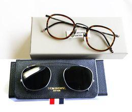 Wholesale Framed Floral Prints - Original quality New York brand eyewear brand sunglasses THOM TB710 titanium frames men and women Dual glasses frame gafas oculos de sol