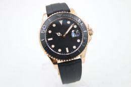 Wholesale Black Sapphire Bracelet - uperlative 116655 Automatic Mechanical Men's Oysterflex bracelet Black Dial With Calendar Bracklet Folding Clasp Yacht Male Watch