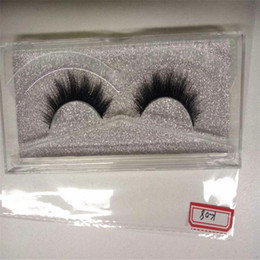 Wholesale Cheap Handmade Crosses - Cheap 3D mink eyelashes custom package wholesale 100% real mink fur Handmade crossing lashes individual strip thick lashes