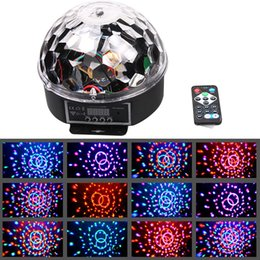 Wholesale Dmx Control Laser Light - Wholesale-DMX512 RGB LED Stage Lighting Crystal Magic Diamond Ball Laser Light Disco DJ party DMX Stage Light With Remote Control