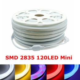 Argentina Edison2011 SMD2835 Mini Luz de neón suave 220V 120Led / M Tira flexible Tira de tubo de neón de led Alta Brillante 8 colores cheap led soft strip Suministro