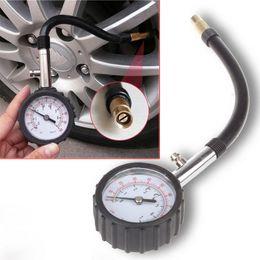 Wholesale Tire Pressure Gauge Wholesale - 50pcs Tire Pressure Gauge 0-100 PSI Auto Car Bike Motor Tyre Air Pressure Gauge Meter Vehicle Tester monitoring system