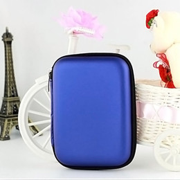 "Wholesale Earphones Carry Case - 2.5"" External USB Hard Drive Disk Carry Mini Usb Cable Case Cover Pouch Earphone Bag for PC Laptop"