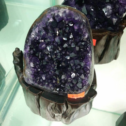 Wholesale Place Europe - Natural Uruguay amethyst hole Crystal cluster crystal original stone cornucopia desk Sitting room place the study present
