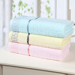 Wholesale Rectangle Cube - Hot sale High quality New fashion 100% cotton Jacquard bath towel Spa towel Water cube bath towel for adults Size: 70x140cm