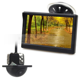Wholesale Mini Camera Wired Monitor - Wired 5 Inch HD LCD Display Rear View Monitor Car Monitor Mini Car Cam Rear View Car Camera Reversing System