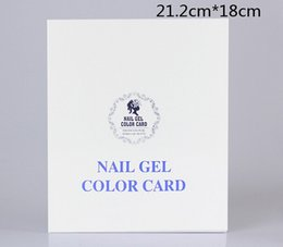 Wholesale Salon Manicure Tool Box - New Nail Color Card Gel Nail Polish Color Display Box for 120colors Model Salon Nail Shop Dedicated DIY Manicure Tools