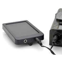 2019 cámara oculta al aire libre Al por mayor-Cámara de caza de la batería del panel solar Cargador de energía externa para Trail Camera HC300M HC500G HC500M