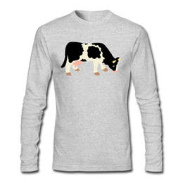 Wholesale Cow Neck Shirt - Top Quality Man T Shirt Cow Reality on Sweatshirts Long Sleeve Pure Cotton Shirts For Male