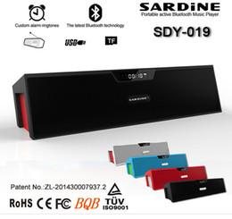 Wholesale Powered Speaker Stand - Wholesale- Big power sdy-019 Sardine Mini wireless Bluetooth Portable Speaker FM Radio with mic card Spain Russian