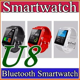 Wholesale Remote Control Stopwatch - 2018 U8 U Watch With sleep monitor pedometer stopwatch Bluetooth Smart Watch DZ09 GT08 A1 For iPhone Samsung HTC Android Smartphones A-BS