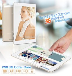 Wholesale Tablet Phone Call Retina - Wholesale- Teclast P98 3G Octa Core MTK8392 Tablet PC Retina 9.7inch 2048x1536 Dual Camera 13.0MP Android 4.4 GPS WCDMA Phone Call 2GB 16GB