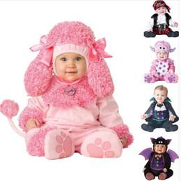 Wholesale Kids Leopard Costume - New High Quality Baby Boys Girls Halloween Bat Vampire Costume Romper Kids Clothing Set Toddler Co-splay Pink