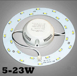 Wholesale Magnet Led Light Ceiling - SMD 5730 5W 12W 15W 18W 23W LED Ring Ceiling Circular Magnetic Light Lamp 85-265V Downlights Round Ring LED Panel board with Magnet