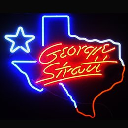 Wholesale George Strait Signed - Fashion New Handcraft George Strait Texas Real Glass Tubes Beer Bar Pub Display neon sign 19x15!!!Best Offer!