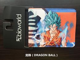 Wholesale Dragon Ball Bag - Japanese Dragon Ball Z Wallets Cartoon Anime Wukong Sun Purse High Quality PU Leather Cards Bags Hero Kids Gift Short Wallet