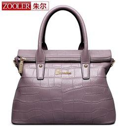 Wholesale Zooler Bags - Wholesale-ZOOLER 2016 woman leather bag luxury elegant genuine leather handbags women shoulder messenger bags OL lady beloved bolsos#1050