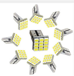 Wholesale bulbs dashboard - 100X T10 9SMD 12SMD 1206 CAR led light Clearance Lights Car-styling White Dashboard Lamp Turn Signal Bulb