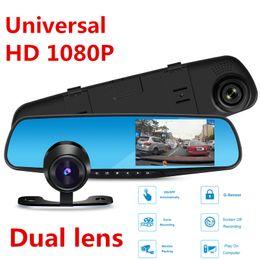 Wholesale Rear Front Camera Dvr Car - HD 1080P Car DVR Dash Camera Dual Cam Vehicle Front Rear DVR Lens Video Recorder