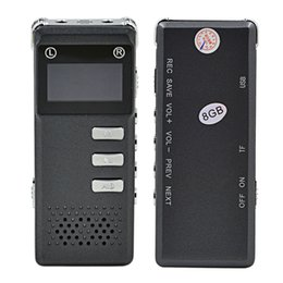 Wholesale Telephone Wav Recorder - Professional OLED Digital Voice Recorder 8GB Rechargeable Mini Dictaphone TF Card WAV Audio Telephone Recorder MP3 Player
