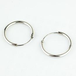 Wholesale ladies sterling silver earrings - Wholesale- AIPAN Luxury Women 925 Sterling Silver Hoop Earrings Simple Circles Earrings For Ladies Girls