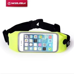 Wholesale Wallet Zip For Iphone - Wholesale- WIN.MAX Waterproof Waist Money Wallet Pouch Sports Pack Hiking Leisure Mini Zip Running Bag Belt for iPhone 6 Plus 5.5