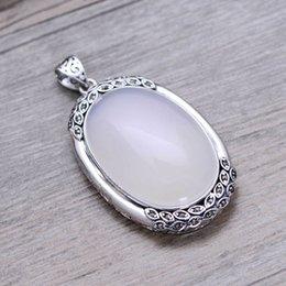 1e48eb87c4c7 Jarry 234 Joyas de plata al por mayor 925 joyas de plata pura plata antigua  jade blanco Patrón de pollo zodíaco chino dama colgante