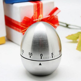 Wholesale Stainless Steel Egg Timers - Kitchen Timer Alarm Clock Stainless Steel Egg Reminder Multi-function Originality Mechanics 60 Minutes Family Necessity 11 5my J R