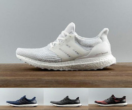 Wholesale Buttons Clear - New Ultra Boost 3.0 Triple Black and White Primeknit Oreo CNY Blue grey Men Women Running Shoes UltraBoosts ultraboost sport Sneaker