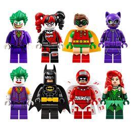 Wholesale Robin Figure - Suicide squad Building blocks Batman movie Mini Set Joker Harley Quinn Robin figure Building Block Toy Bricks minifigures 8pcs set