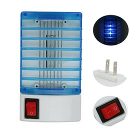 Wholesale Fly Trap Light - ABS LED Socket Electric Mosquito Fly Bug Insect Trap Lamp Killer Zapper LED Mosquito Killer Lamp Electric Pest Reject Anti Mosquito Light