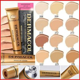 Wholesale In STOCK Newest Dermacol base Make up Cover concealer cream dermacol makeup Classic Brand consealer dermacol make up cover g colors