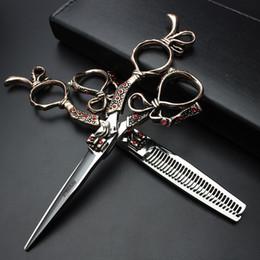 "Wholesale Hairdresser Razors - Wholesale- 6"" sale black japan hair scissors teflon shears cheap hairdressing scissors barber thinning scissors hairdresser razor haircut"