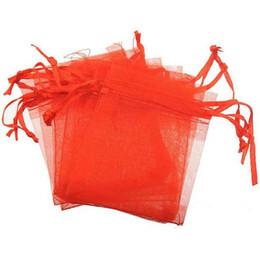2019 housses de coffre vert Bijoux Sacs Pochettes Cadeaux Emballage Bracelets Collier Artisanat Affichage Cordon Lucency Bonbons Couleur Rouge Rose Jaune Blanc 7 * 9cm 300pcs