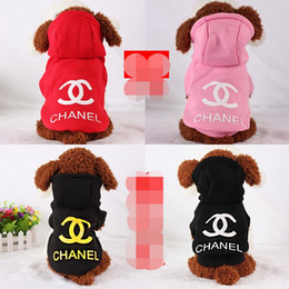 Wholesale 100 Cotton Pet Puppy Dog Clothes for Small Dog Coat Hoodie Sweater Costumes Dogs Jackets XS XXL Colors