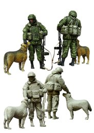 Wholesale Resin Figure Model Kit - Wholesale- 1 35 scale resin model figures kit Modern Russian Soldiers e1