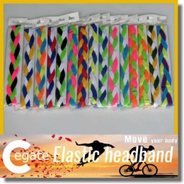 Wholesale Softball Braided Headbands - 2016 baseball softball sports headbands set elastic nylon for girls braided mini non slip hairbands free shipping