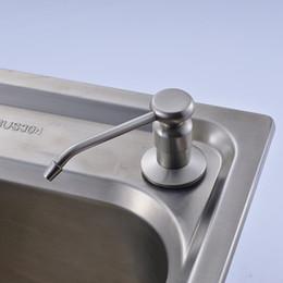 Wholesale Soap Dispenser Deck Mount - Brushed Nickel Kitchen Soap Dispenser 220ML Liquid Soap Container Deck Mount