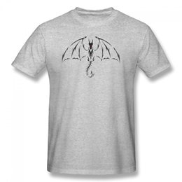 Wholesale Tribal Tattoos Sleeves - Hot selling fashion item Dragon Tribal Tattoo Men' Shirt Cotton Hight Quality Man T Shirt Fashion Men And Woman Short O-Neck Print Shirt