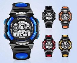 Wholesale Multifunctional Digital Watch - 1000pcs Fashion COOLBOSS Brand Sports Watch Alarm Military Digital LED Watches For Men and Women Multifunctional Casual Wristwatches